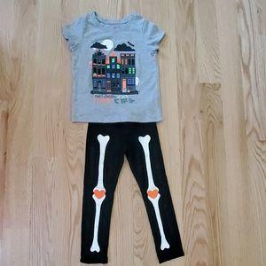 Cute girls Halloween shirt and leggings.